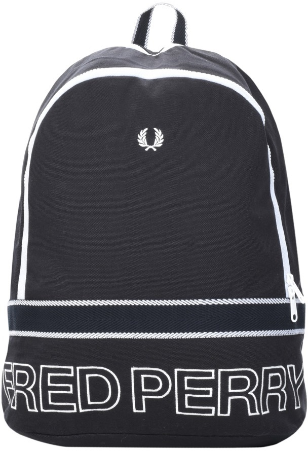 Fred Perry Canvas Rucksack Bag Navy