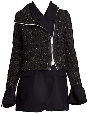 Sacai Women's Layered Wool Jacket