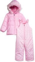 London Fog 2-Pc. Hooded Jacket & Snow Pants Set, Little Girls (2-6X)