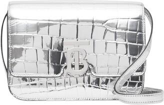 Burberry metallic embossed TB crossbody bag