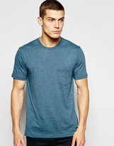 Element T-shirt With Single Pocket - Blue