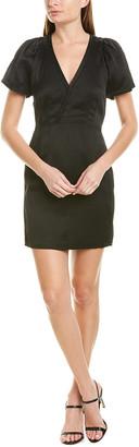 Derek Lam 10 Crosby Pleated Sleeve Linen-Blend Mini Dress
