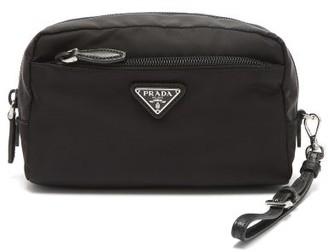 Prada Zip-around Wash Bag - Womens - Black