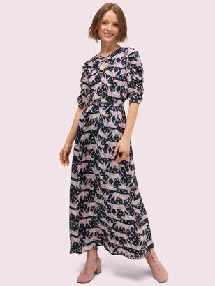 Kate Spade Panther Dot Midi Dress