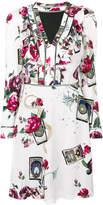 Roberto Cavalli rose print dress