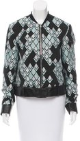 3.1 Phillip Lim Leather-Trimmed Patterned Jacket