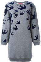McQ by Alexander McQueen 'Swallow' sweatshirt dress - women - Cotton/Polyester - XXS