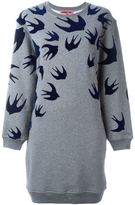 McQ by Alexander McQueen 'Swallow' sweatshirt dress