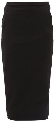 Rick Owens Soft Pillar Cotton-blend Pencil Skirt - Black