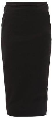 Rick Owens Soft Pillar Cotton-blend Pencil Skirt - Womens - Black