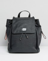 Pauls Boutique Backpack in Black With Tassel Detail