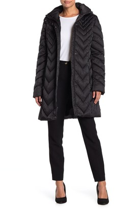 Kenneth Cole New York Long Quilted Coat