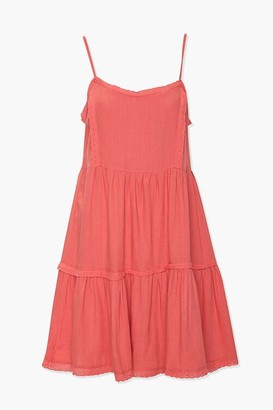 Forever 21 Tiered Crochet-Trim Dress