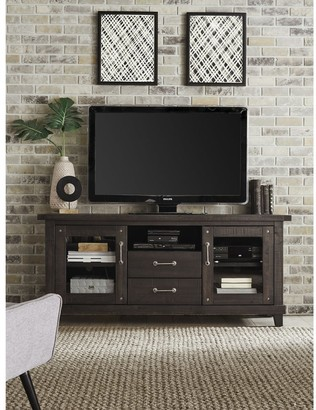 Overstock Yosemite Solid Wood Two Drawer Media Console in Cafe - 65 inches in width