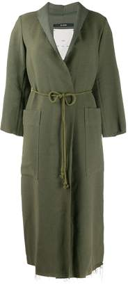 Song For The Mute long belted coat