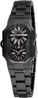 Philip Stein Teslar Philip Stein1CB-MB-CB Ladies WatchAnalogue QuartzBlack Dial Black Ceramic Bracelet