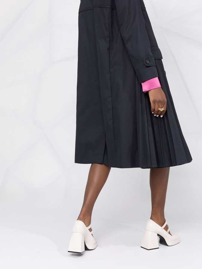 Thumbnail for your product : RED Valentino Pleated Belted Trench Coat