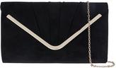 Accessorize Saskia Suedette Envelope Clutch Bag