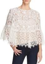 Aqua Bell Sleeve Sheer Lace Top - 100% Exclusive