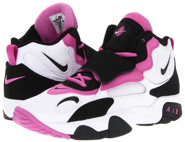 Nike Air Speed Turf (Youth) (White/Viola-Black/Blanc/Noir Fushia) - Footwear