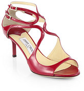 Jimmy Choo Lila Patent Leather Crisscross Sandals