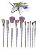 Unicorn Makeup Brushes Set 10PCS unicorn brushes With Travel case