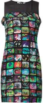 Jeremy Scott Tv screen print sheath dress - women - Polyester/Rayon - 44