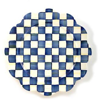 Mackenzie Childs Royal Check Petal Platter