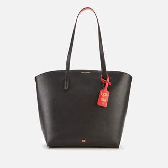 Lulu Guinness Women's Grainy Leather Agnes Tote Bag - Black