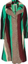 Marni Striped wool and silk-blend coat