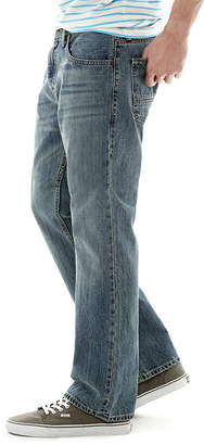 Arizona Mens Mid Rise Original Fit Bootcut Jean
