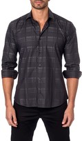 Jared Lang Plaid Long Sleeve Trim Fit Shirt