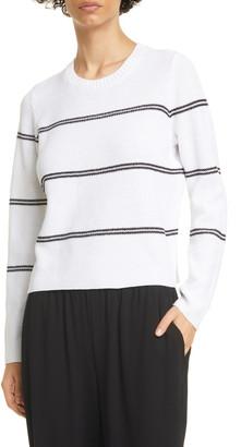 Eileen Fisher Stripe Organic Linen & Organic Cotton Box Top
