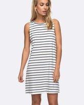 Roxy Womens Just Simple Stripe Tank Dress