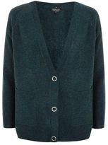 Topshop Marl popper button cardigan