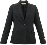 Golden Goose Venice Logo-patch Single-breasted Wool Blazer - Womens - Black