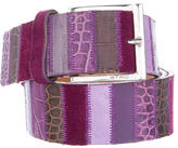 Etro Leather Patchwork Belt