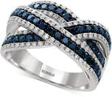 Macy's EFFY® Blue and White Diamond Ring (1 ct. t.w.) in 14k White Gold