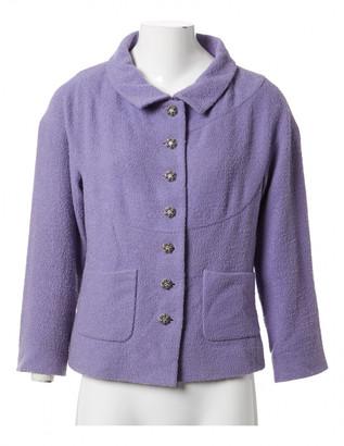 Chanel Purple Wool Jackets