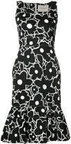 Carolina Herrera floral trumpet dress - women - Polyester/Acetate/Cotton/Spandex/Elastane - 0
