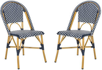 Safavieh Set Of 2 Salcha Indoor-Outdoor French Bistro Stacking Side Chairs