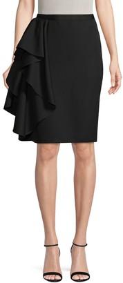 Lanvin Draped Wool Skirt