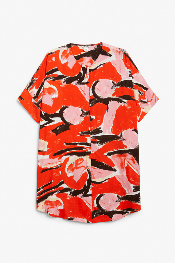 Thumbnail for your product : Monki Oversized shirt dress