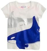 J.Crew Girls' metallic whales T-shirt