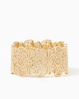 Charming charlie Ornate Filigree Stretch Bracelet