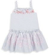 Halabaloo Little Girl's & Girl's Striped Chambray Dress