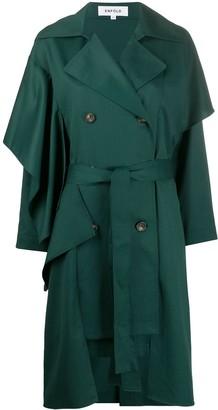 Enfold Gab draped trench coat