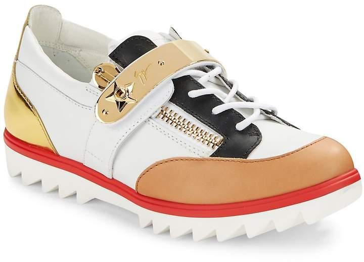 Giuseppe Zanotti Men's Colorblock Leather Sneakers