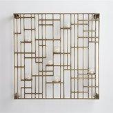 Crate & Barrel Brass Grid Candleholder
