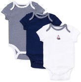 Little Me Sailboat Bodysuits 3-Pack, Baby Boys